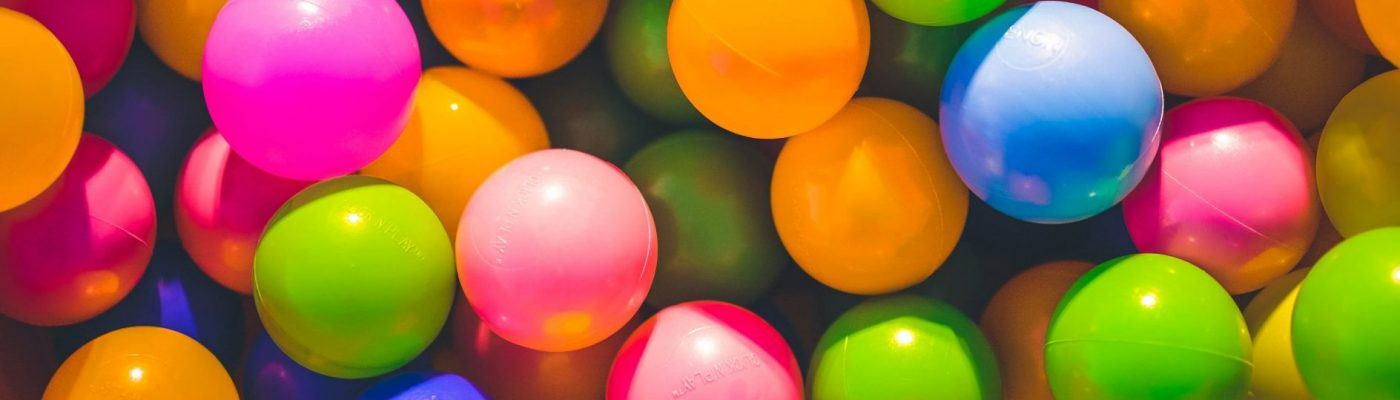 closeup of a ball pit at UTM Early Learning Centre